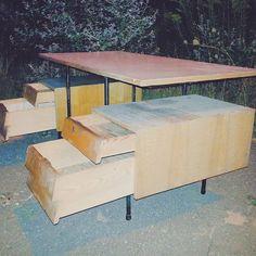 Industrial desk Ciekawostką jest to , że dwie dolne szuflady połączone są w jedną głęboką. #vintage #interiors #industrial #design #loft #retro #vintageshop #sklepvintage #poznan #biurko #desk #wnętrza #brutfurniture #junkstyledesign #interiorstyling #interiordesign #starocie #brocante #old