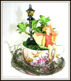 Fairylicious & Goblin Grunge Fairy Garden in a Tea Cup ...