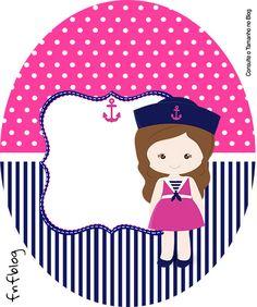 Rótulo Tubete Oval Menina Marinheira