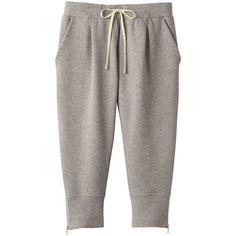 Women Velvet Sweat Cropped Pants (€6,84) found on Polyvore featuring activewear, activewear pants, pants, bottoms, sweatpants, sweats, jeans, brown sweat pants, cropped sweatpants and cropped sweat pants