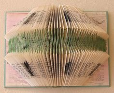 Interesting Upcycling!  Book folding patterns - old books to art!