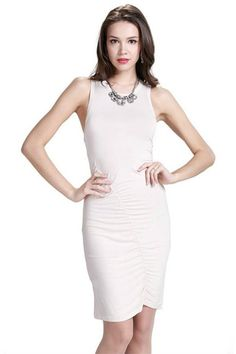 DRCCD336 Ruched Racer Dress