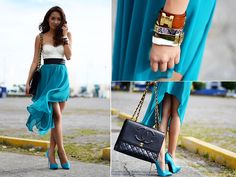 Corset top and asymmetrical skirt #love #outfit http://lookbook.nu/look/3565911-Wind-Blown-BMS