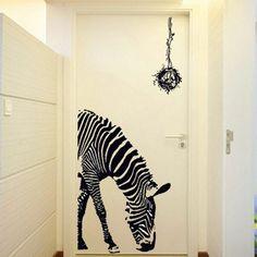 decoration-hallway-a-diffracted-zebra - Home Decoration Home Wall Decor, Room Decor, Dark Tree, Animal Print Rug, Wall Decals, Home Goods, Corridor, Decor Ideas, Bedroom