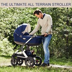 Explore the world together with All Terrain Stokke Trailz stroller for baby and kids