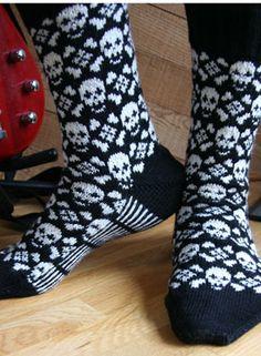 Toxic Socks - Knitting Patterns by Camille Chang - for Flora Intarsia Knitting, Knitting Charts, Knitting Socks, Hand Knitting, Knitting Patterns, Crochet Patterns, Patterned Socks, Fair Isle Knitting, Camille