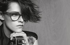After taking a look at a preview last week, Chanel has released its full spring-summer 2015 eyewear campaign with actress Kristen Stewart. The star looks f