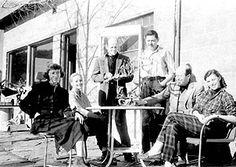 Bolton Landing, 1951: Lee Krasner, Freas, Jackson Pollock, Smith, Clement Greenberg and Helen Frankenthaler. Photo courtesy of Estate of David Smith