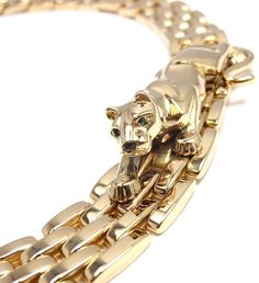 Cartier. Yellow gold panther necklace...♡
