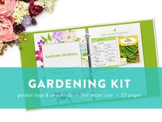 • PLEASE NOTE • This is a digital, instant download product. No physical item will be shipped.  This Gardening Kit is perfect for staying