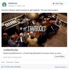 Great Facebook post from Starbucks in New York, NY/ Sympathique post Facebook de Starbucks à New York, NY https://www.facebook.com/Starbucks/posts/10152725608248057