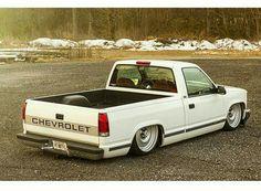 Chevy Trucks Lowered, Bagged Trucks, Custom Chevy Trucks, C10 Trucks, Mini Trucks, Pickup Trucks, Chevy Silverado, Chevrolet Silverado, Single Cab Trucks