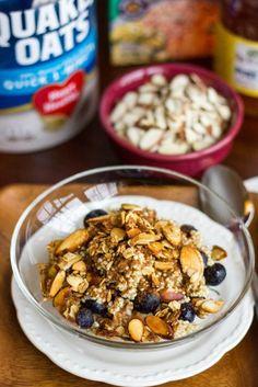 Almond Crunch Quinoa Oatmeal : Kendra's Treats
