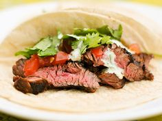 Sasaki Time: Super Bowl Sunday Recipes: Chili-Spiced Skirt Steak Tacos