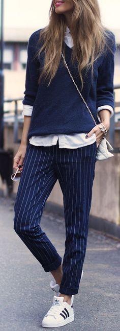 Sweater: MKAO for Bik Bok // Shirt: Asos // Pants: Bik Bok // Bag: Steve Madden // Shoes: Adidas