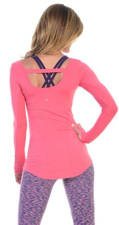 Dancy Guava Long Sleeve Glyder Work Sweat Play Apparel at SanDiegoFit.com