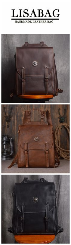 Handcrafted Full Grain Leather School Backpack Unisex Leather Hiking Backpack 14'' Laptop Backpack 9036 Leather School Backpack, Leather Backpack Purse, Laptop Backpack, Leather Purses, Hiking Backpack, Leather Backpacks, Satchel Bag, Leather Bags, Clutch Purse