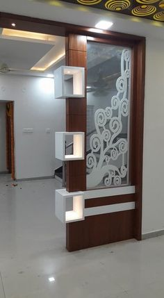 Room Partition Wall, Living Room Partition Design, Pooja Room Door Design, Room Partition Designs, Living Room Tv Unit Designs, Ceiling Design Living Room, Door Design Interior, Tv Wall Design, Kitchen Room Design
