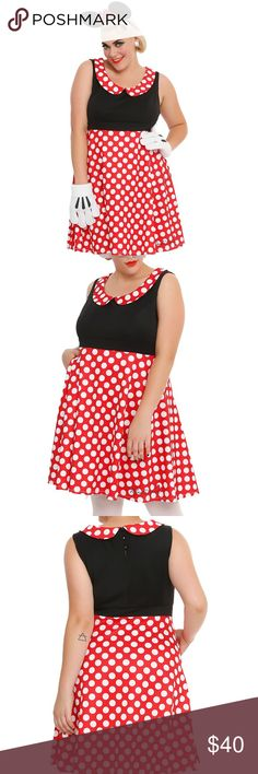 Plus Size Costume--Minnie Mouse Dress Hot Topic plus size Minnie Mouse dress NEW with tags! This is a size 2, which is equivalent to a size 18-20. Has hip pockets and back button closure. Super cute and great quality! I just decided to go with something else this year. 98% cotton, 2% spandex. *Accessories not included* P.S. I'm a fast shipper and a top rated seller! ✨ Hot Topic Dresses