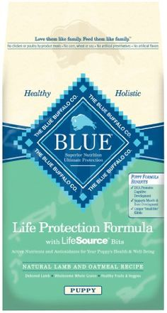 Blue Buffalo Dry Food for Puppies, Lamb & Oatmeal Recipe, 30-Pound Bag - http://www.thepuppy.org/blue-buffalo-dry-food-for-puppies-lamb-oatmeal-recipe-30-pound-bag/