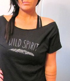 FREE SHIPPING Hipster & Boho Shirt Wild Spirit Off by pebbyforevee, $28.00