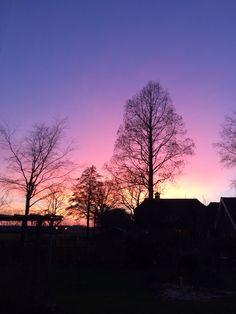 Mooie zonsondergang maart 2016