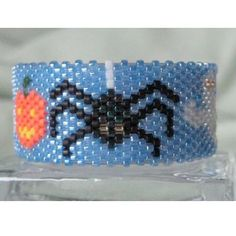 Spooky Spider Beaded Tea Light Cover / Napkin Ring Pattern | Bead-Patterns.com