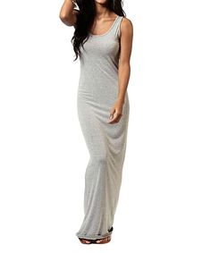 Another great find on #zulily! Fashionomics Heather Gray Maxi Dress by Fashionomics #zulilyfinds