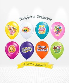 Shopkins Birthday Latex Balloons Party By Andabloshop Invitations 10th