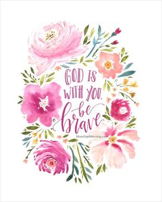 God is with you (hand lettered and watercolored) 8 by 10 print - Love Shirts - Ideas of Love Shirts - - Copyright Blue Chair Blessing Bible Verses Quotes, Bible Scriptures, Faith Quotes, Pray Quotes, Jesus Quotes, Christian Art, Christian Quotes, Bibel Journal, Scripture Cards