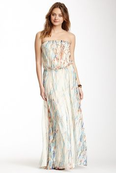 Georgette Silk Tube Maxi Dress