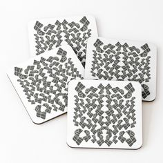 Promote   Redbubble Pattern Print, Print Patterns, Table Coasters, White Patterns, Promotion, Black And White, Abstract, Drinks, Cards