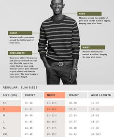 J.Crew Example Size Guide & Measurements
