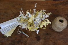 Bouquet tissus chemises recyclées