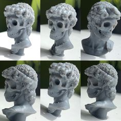 print of David's michelangelo bust revisited by myself, Pierre Benjamin Roman Gods, 3d Character, New Things To Learn, Miniture Things, Michelangelo, Zbrush, Traditional Art, How To Look Pretty, Something To Do