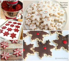 How to make snowflake cookies for Christmas food cookies recipes christmas recipes christmas cookies christmas food snowflake cookies Snowflake Christmas Cookies, Christmas Tree Food, Xmas Cookies, Xmas Food, Christmas Cooking, Iced Cookies, Cookies Et Biscuits, Christmas Desserts, Holiday Treats