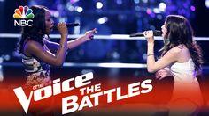 """ Sometimes I love you sometimes you make me blue ...."" The Voice 2015 Battle - Briar Jonnee vs. Caitlin Caporale: ""Fallin"""