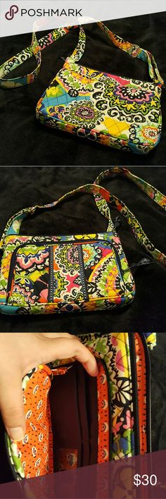 Vera Bradley Purse Multi Color Crossbody Travel Purse with attached wallet pocket. In excellent condition only used once. Great for vacation or if you are looking for a small bag. Vera Bradley Bags Crossbody Bags