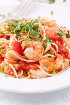 Roasted Garlic and Herb Shrimp with Spaghetti | Food 2 Please