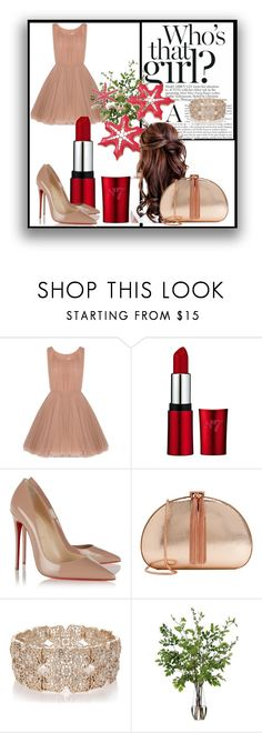 """Girl <3 #36"" by dzenitabesic ❤ liked on Polyvore featuring Lara Khoury, Christian Louboutin, Ted Baker, Oasis and Diane James"