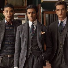 """"""" @ralphlauren lookbook! there's probably some cool funny peaky blinders caption to be made, but after 20 minutes of angry thinking i surrender lol"""" Ralph Laurent, Ivy League Style, Suit Fashion, Mens Fashion, Suit And Tie, Gentleman Style, Polo Ralph Lauren, Smart Casual, Victorian Gentleman"""