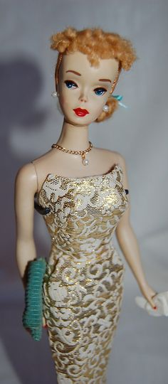#3 Vintage Barbie in Golden Girl LUV this dress. its in my Mom's collection fromo her childhood