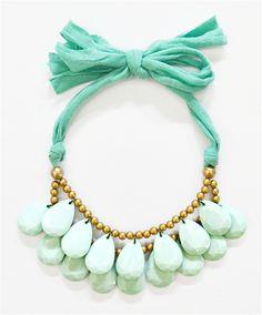 Teardrop Bib Necklace, Drop Necklace, Bead Necklace, Mint Necklace, Two Tier Necklace, Statement Bib Necklace, Briolette Necklace $10.90