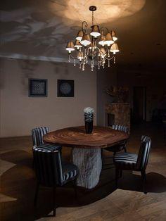 Luxusné #praveslovenske - jedálenský stôl s prírodnými hranami. Vrchná časť stola z jedného kusa drevenej dosky Parota. Aj nábytok vie chytiť za srdce... od Ostrolucky- stoly ktoré neboli navrhnuté človekom