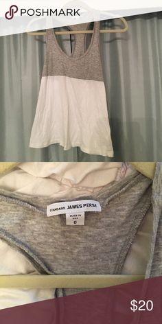 JAMES PERSE babydoll style tank Grey & white flowy tank from JAMES PERSE- knit cotton James Perse Tops Tank Tops