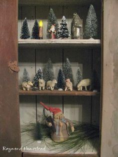 primitive christmas display lpcp 1002