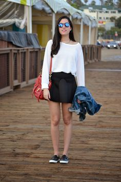 Black, white and red...three classic colors for a classic #ootd on the Pier.