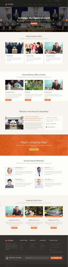 funeral service, funeral home & cemeteries html5 | website themes, Powerpoint templates
