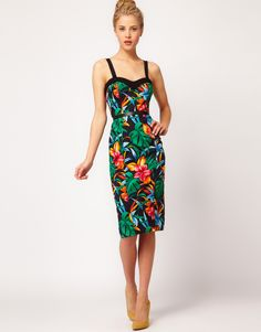 River Island Tropical Bodycon Dress