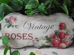 I hope you enjoyed the theme today. Konstantin suggested a VINTAGE ROSE GARDEN . Decoupage Vintage, Shabby Vintage, Vintage Gifts, Victorian Crafts, Deco Paint, Rose House, Rose Cottage, Cottage House, Romantic Roses